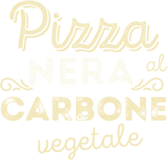 Pizza nera al carbone vegetale